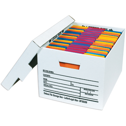 Deluxe File Storage Boxes